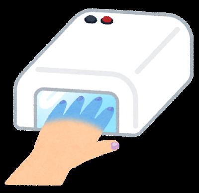 硬化用UVライトのイラスト(ネイル)