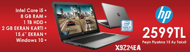 HP X9Z24EA intel Core i5 Laptop Kampanyası