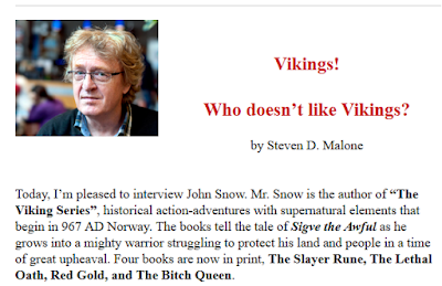 John Snow interviewed by Steven Malone