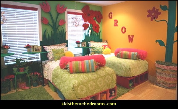 garden theme bedrooms-shared bedrooms for girls garden theme