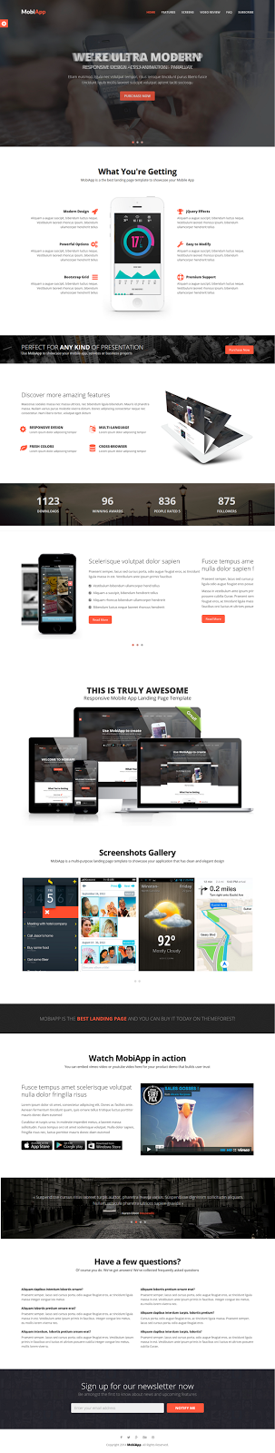 MobiApp - Responsive Mobile App Landing Page