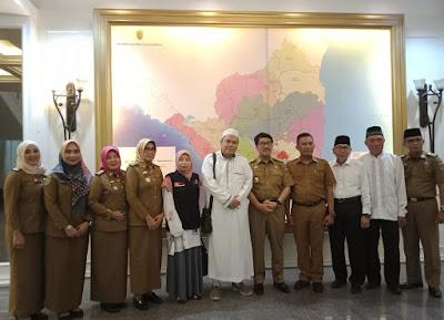 Bertemu Sekda Provinsi Lampung, Pengurus BWI Paparkan Peran Pengelolaan Wakaf