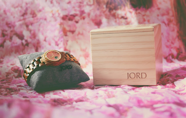 JORD wooden watch in zebrawood and rose gold