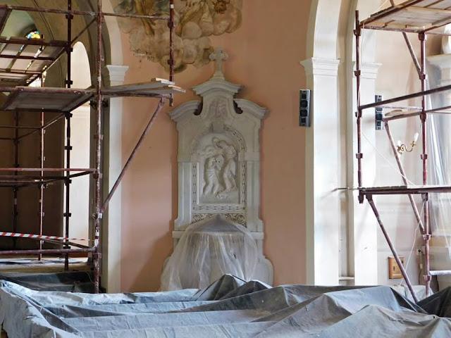 rzeźbiarz, artysta, rożek, chrzcielnica, gościeszyn, kościół