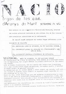 Nació : òrgan de les CAC d'Arenys de Munt