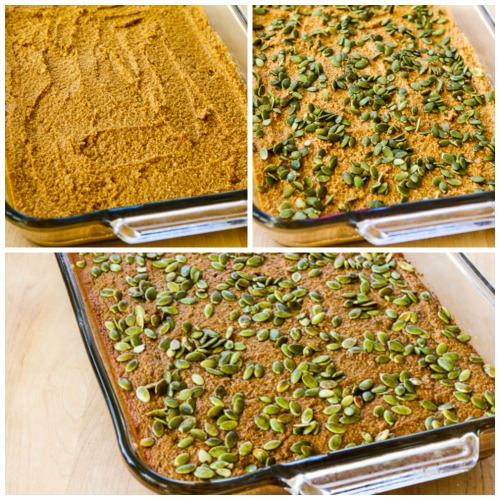 Low-Sugar Pumpkin Bars found on KalynsKitchen.com