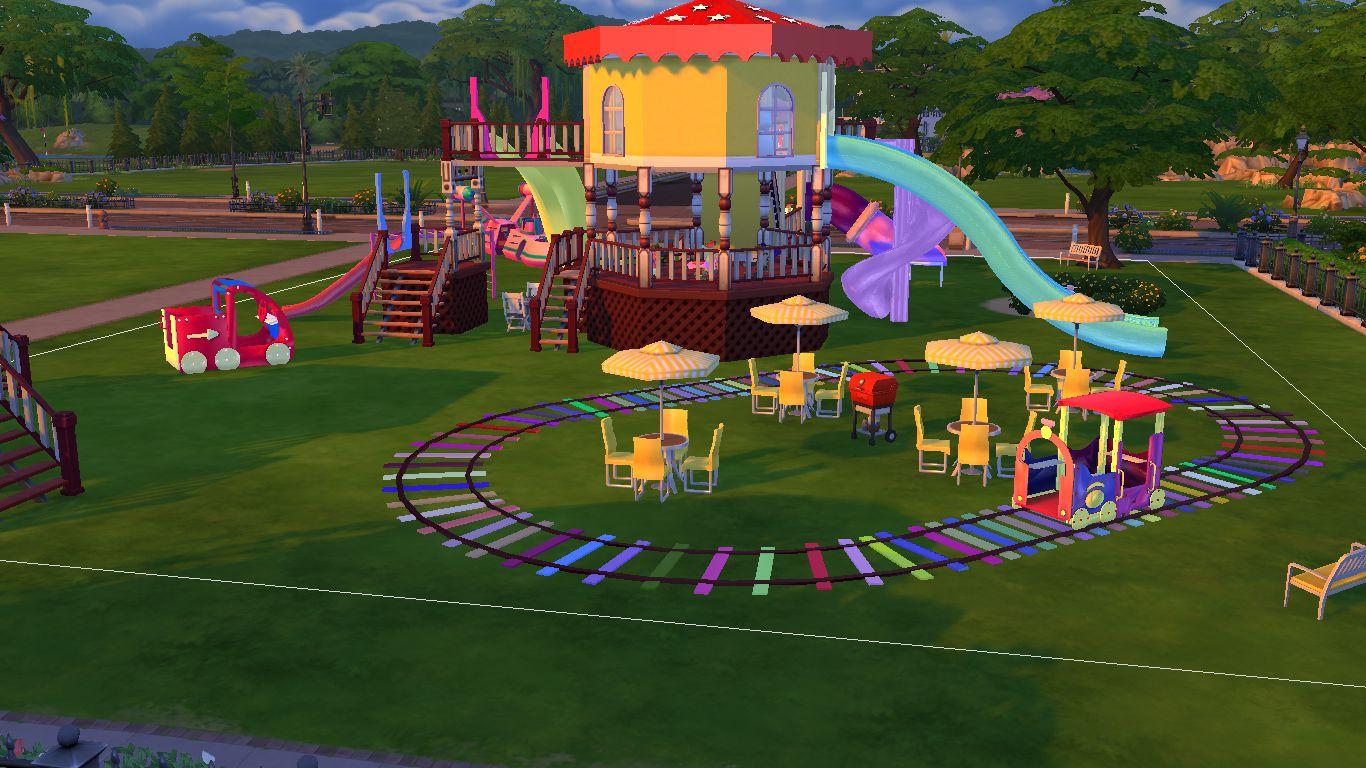 Sims 4 CC Download : Joyful Kids Playground Set   Sanjana ...