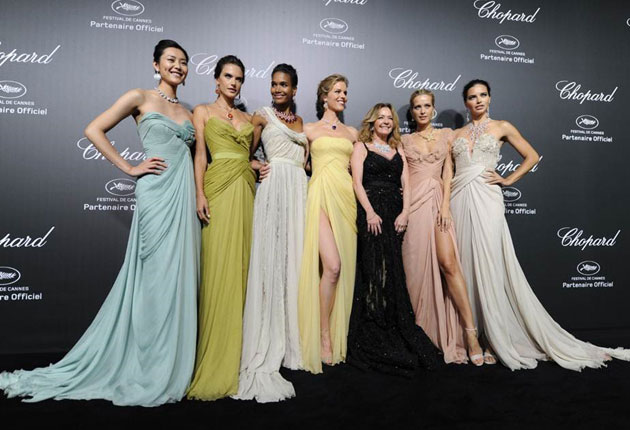 Models @ The Chopard Party in Elie Saab Couture