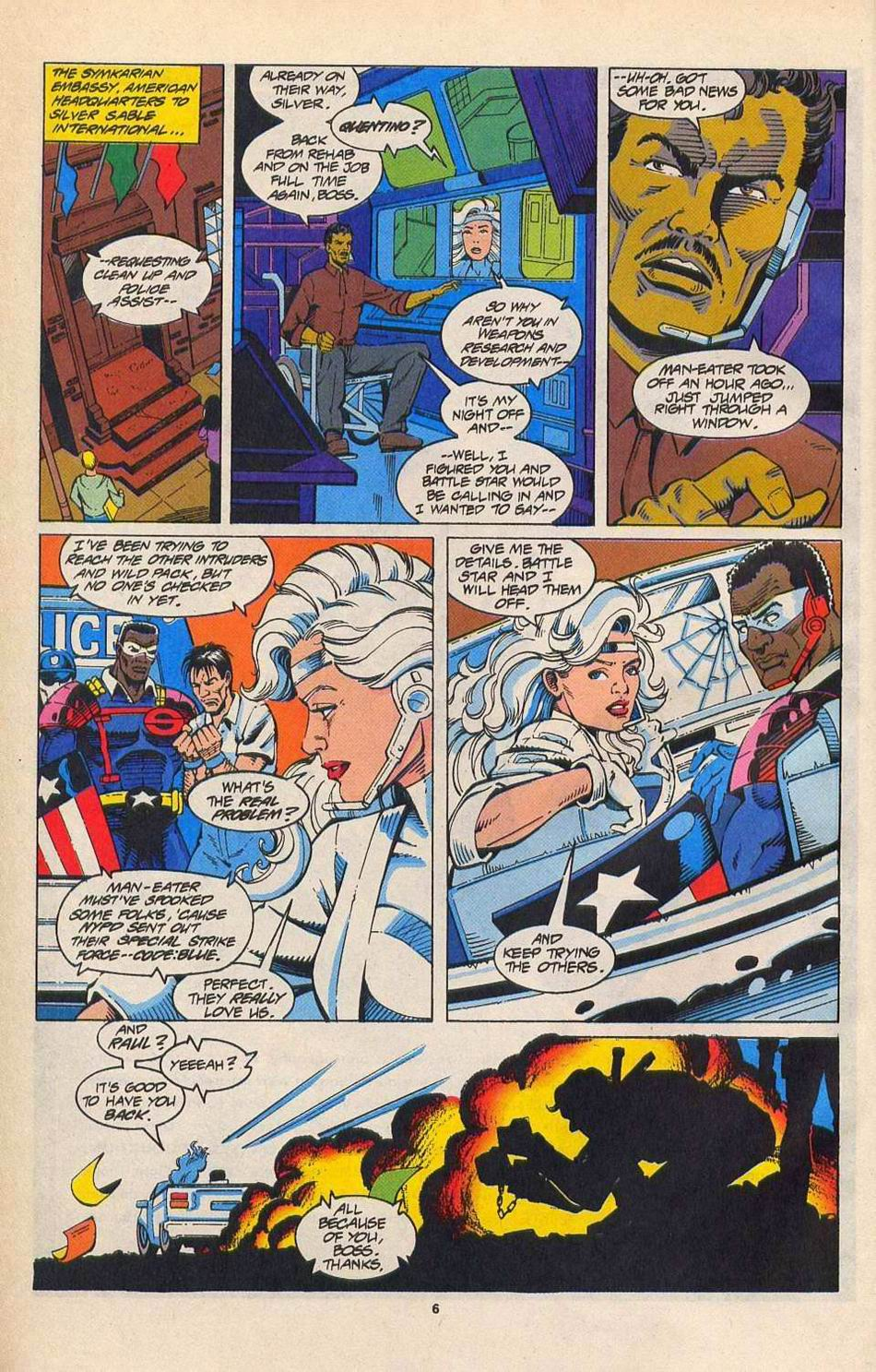 Read online Silver Sable and the Wild Pack comic -  Issue #27 - 6