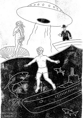 conceptual illustration of Harold Holt's disappearance