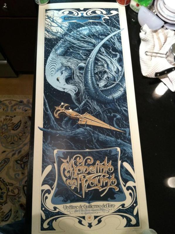 inside the rock poster frame blog aaron horkey pan s labyrinth