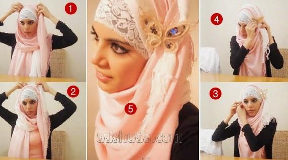 Tutorial Hijab Pashmina Bros Kupu-Kupu