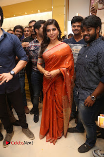 Actress Samantha Pictures in Saree at South India Shoping Mall Launch 0235