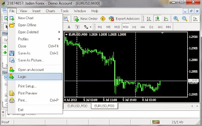pilih login metatrader 4