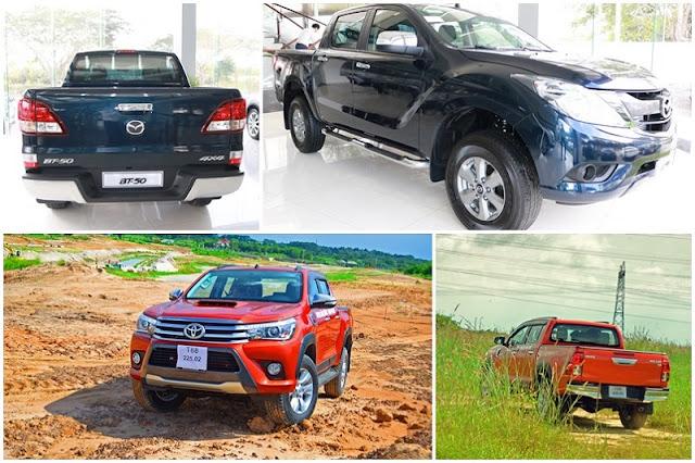 so sanh mazda bt50 vs toyota hilux 2016 1 - So sánh Toyota Hilux va Mazda BT-50 tại Việt Nam