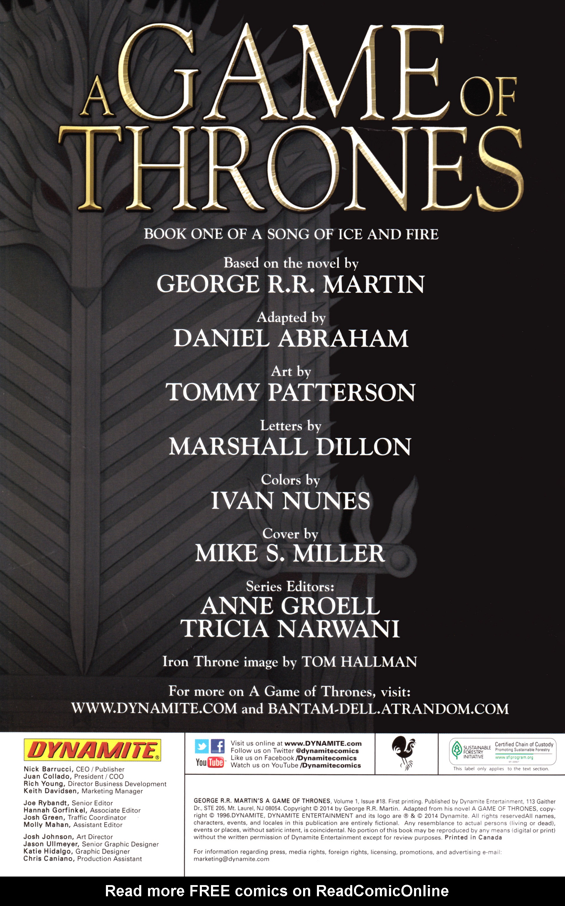 Read online A Game Of Thrones comic -  Issue #18 - 2