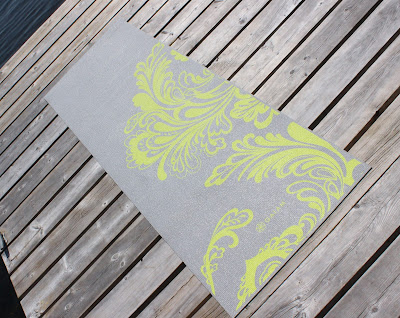 Gaiam 3mm Classic Printed 3mm Yoga Mat in Citron Wave