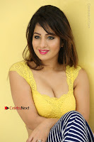 Cute Telugu Actress Shunaya Solanki High Definition Spicy Pos in Yellow Top and Skirt  0373.JPG