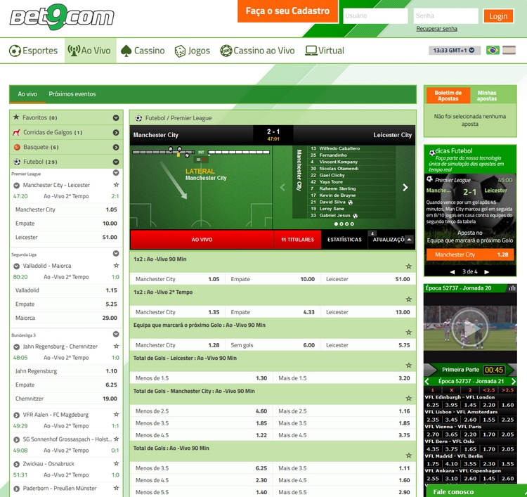 Bet9 Live Betting Offers