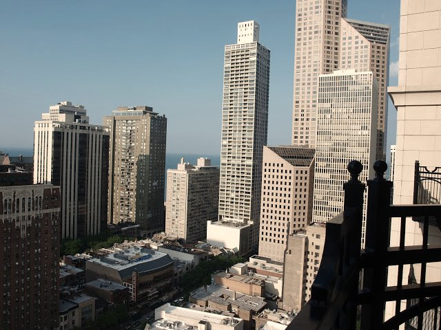 View from Waldorf Chicago balcony by Hello Lovely Studio