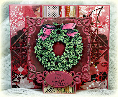 Stamps - Our Daily Bread Designs Holly Wreath, ODBD Custom Decorative Corners Dies