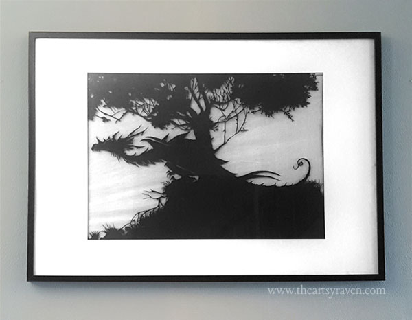 Dragon papercut by theartsyraven