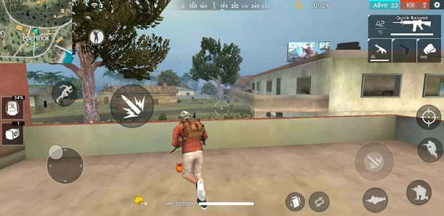 menembak dari tempat tinggi di free fire