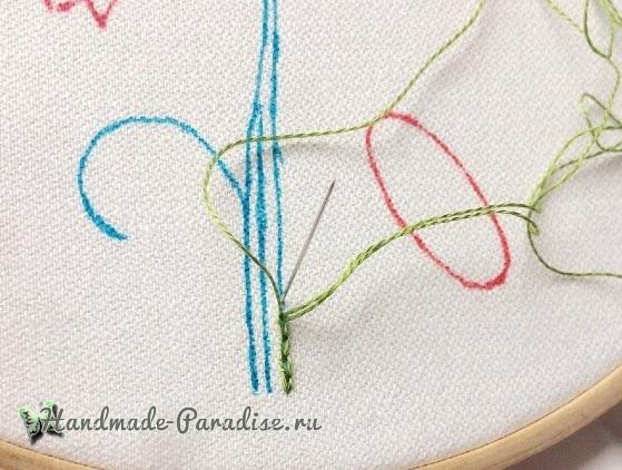 Мастер-класс. Объемная вышивка тюльпаны (3)