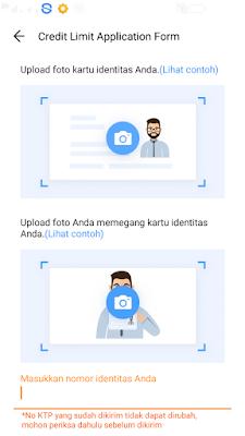 cara upload ktp dan foto selfie di aplikasi akulaku android