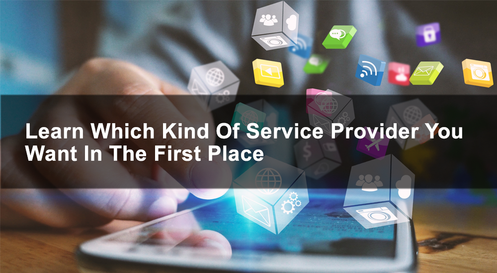 Learn which kind of service provider you want in the first place
