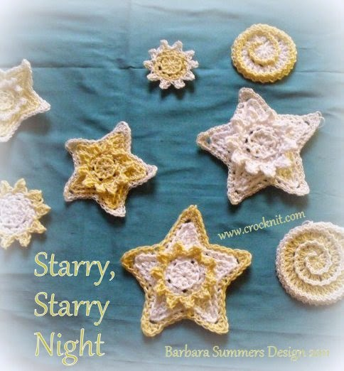 free crochet patterns, how to crochet, stars, swirls, starshine, starbursts,