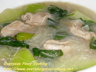 Chicken Tinola with Sotanghon Noodles