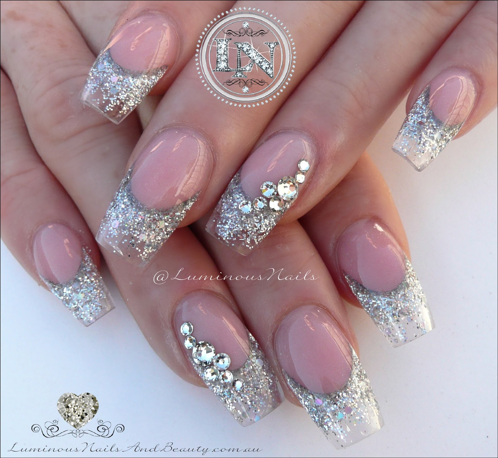 Magnificent Acrylic Nails For Wedding Image Embellishment