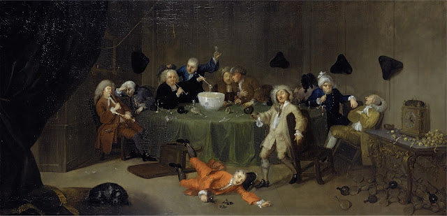 Mittelalter oder Frühe Neuzeit: Trinkgelage und Zutrinken ist beliebt