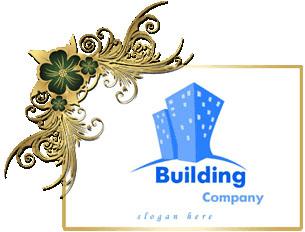 تصميم شعار على شكل برج سكني مزدوج, Double tower apartment psd logo download