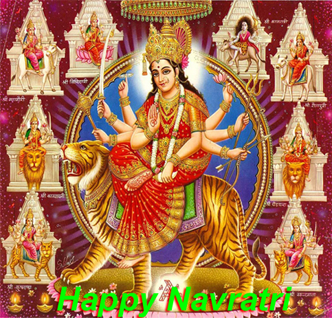 May Maa Durga bless you and your family with Her nine swaroops of Name, Fame, Health, Wealth, Happiness, Humanity, Education, Devotion and Empowerment !! Happy Navratri !!