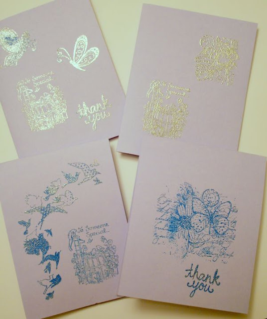 Teacher 'Thank you' cards (stamping, embossing) :: All Pretty Things