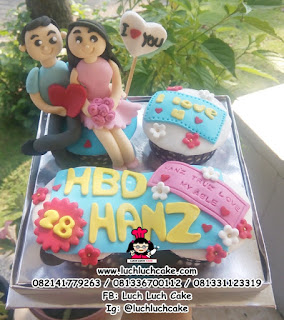 Cupcake Romantis Untuk Ulang Tahun\