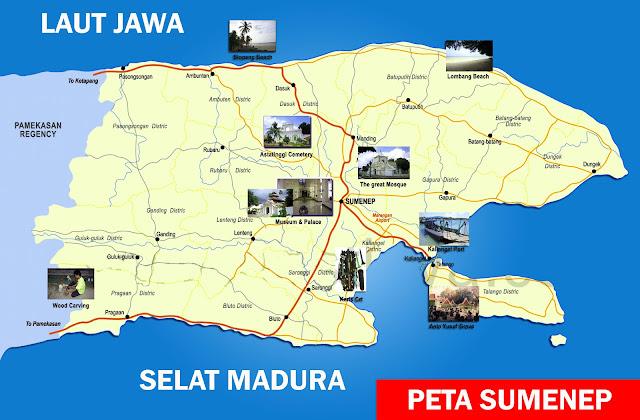 Gambar Peta Sumenap, Madura
