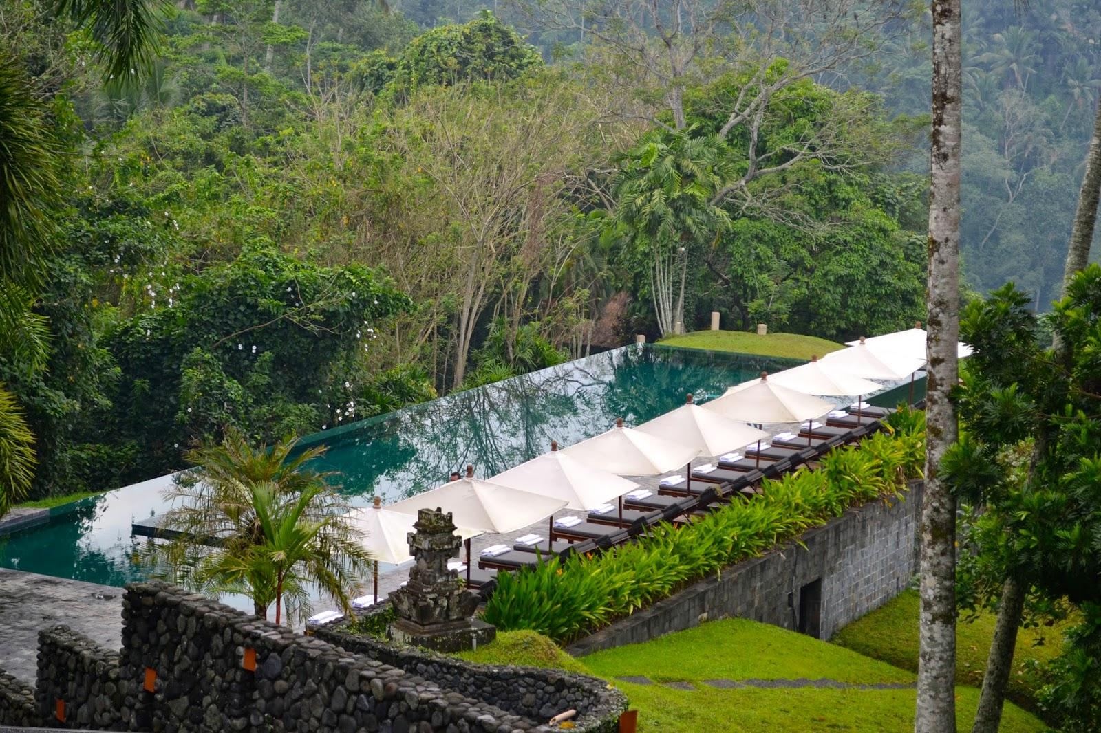 Pisicina hotel Alila Ubud en Bali, Indonesia
