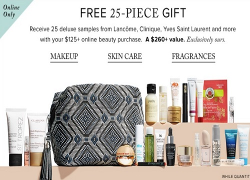 Hudson's Bay Free 25-Piece Beauty Gift