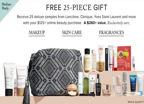 Hudson's Bay Free 25-Piece Beauty Gift