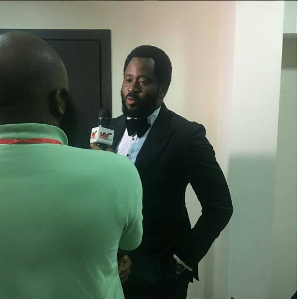 desmond elliot at saidi balogun birthday