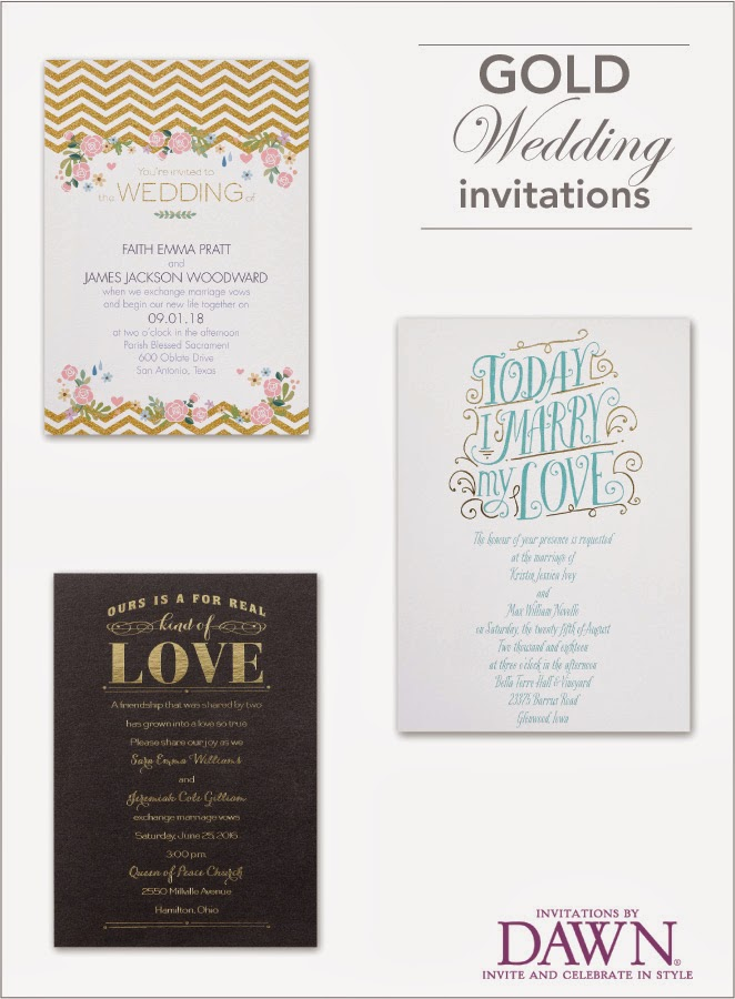 All that Glitters is Gold with Invitations by Dawn - Belle The Magazine