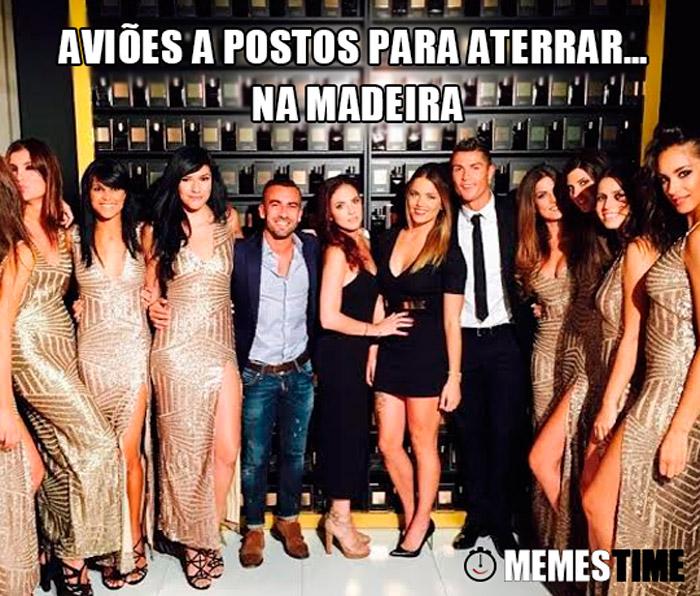 Memes Time Aeroporto da Madeira passa a chamar-se Aeroporto Cristiano Ronaldo  – Aviões a postos para aterrar… na Madeira