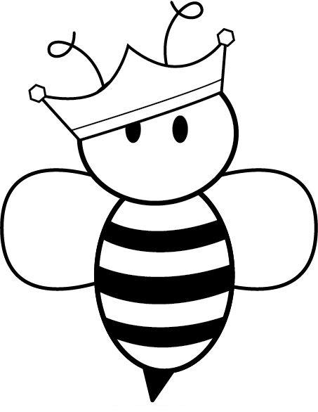 Hình tô màu con ong dễ thương