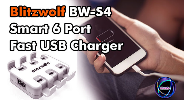 Blitzwolf BW-S4 Smart 6 Port Fast USB Charger