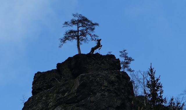 Hirschsprung, das Wahrzeichen des Höllental im Frankenwald
