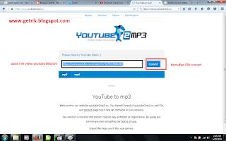 Cara Download Youtube menjad Mp3