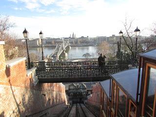 Vista desde el funicular de Buda